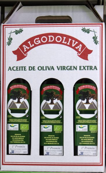 Estuche 3 botellas 3/4l aceite oliva virgen extra Ecológico